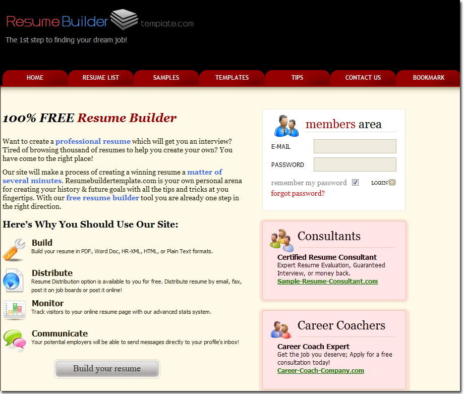 resume builder template advertising solutions